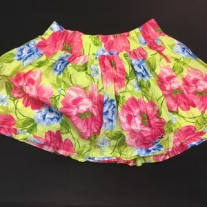 Hollister Mini Skirt Floral Print